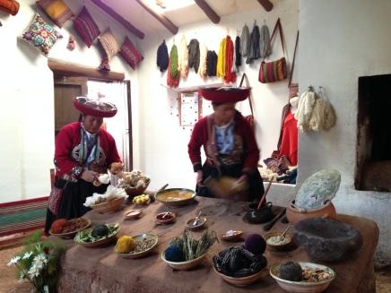 Chinchero weaving demonstration